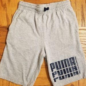 Puma Boy's M (10/12) Grey Knit Shorts